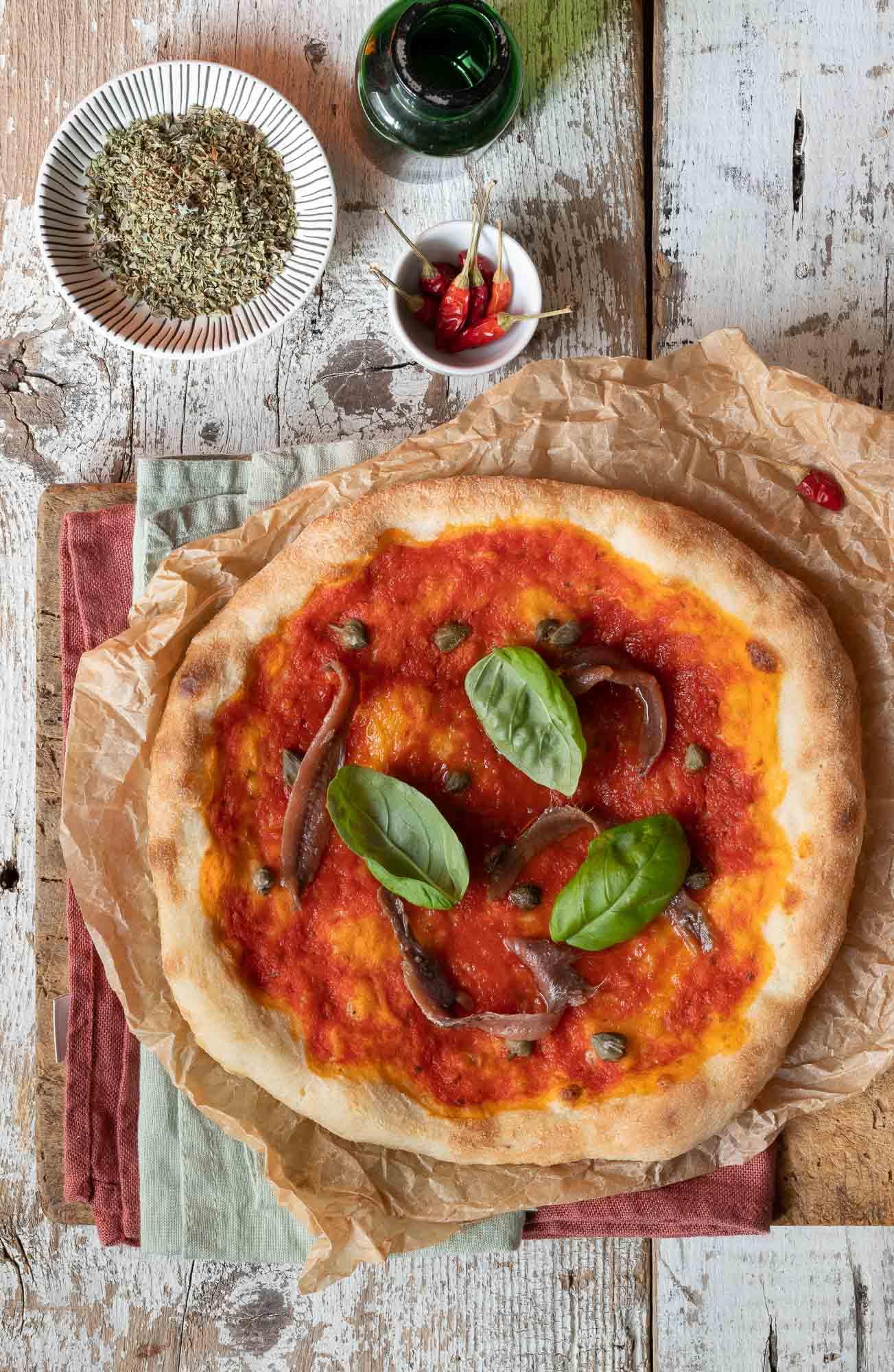 Pizza al piatto come in pizzeria