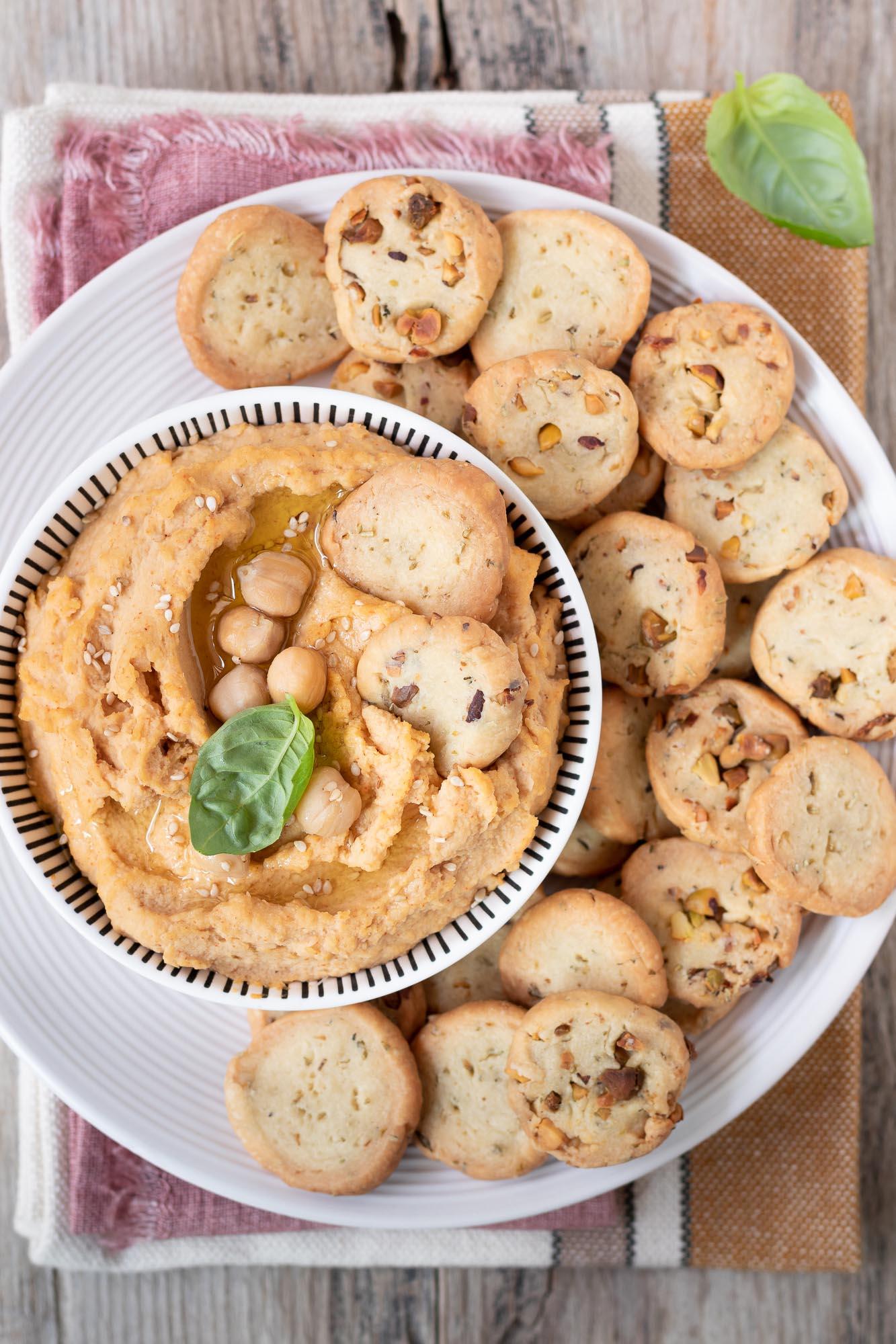 Biscotti salati senza burro