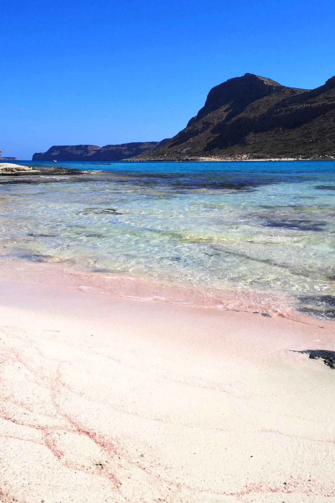 Sabbia rosa a Balos