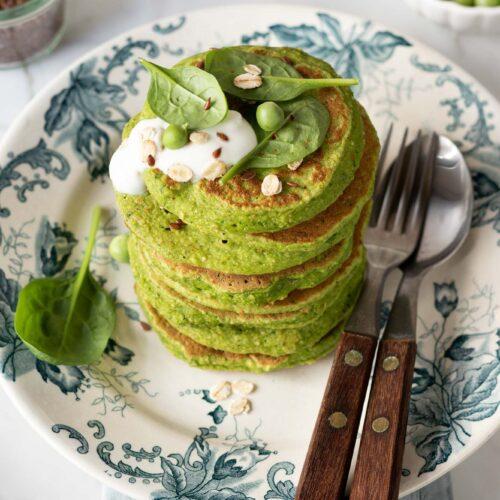 Pancake salati ai piselli